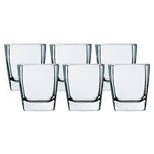 STERLING 6PC OLD FASHIONED GLASS SET